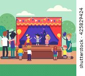 kids theater performance show... | Shutterstock .eps vector #425829424