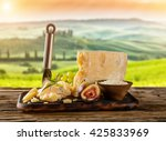 parmesan cheese on cutting... | Shutterstock . vector #425833969