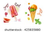 watercolor card with the image... | Shutterstock . vector #425835880