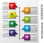 information infographic... | Shutterstock .eps vector #425840374