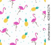 vector seamless pattern with... | Shutterstock .eps vector #425842174