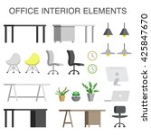 office furniture collection... | Shutterstock .eps vector #425847670