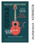 acoustic guitar concert flyer...   Shutterstock . vector #425848228