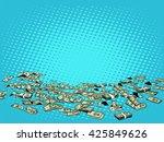 money dollars background   Shutterstock . vector #425849626
