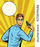 businessman narcissus retro pop ... | Shutterstock . vector #425849686