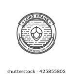 beer logo template on a white... | Shutterstock .eps vector #425855803