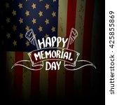 happy memorial day vector... | Shutterstock .eps vector #425855869