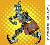 automatic mailing of the robot   Shutterstock . vector #425856940