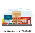 store facade in the down town | Shutterstock .eps vector #425862898