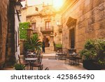 poble espanyol   traditional... | Shutterstock . vector #425865490