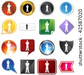 scrubs variety set isolated on... | Shutterstock .eps vector #42587020