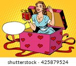 valentine girl love romantic... | Shutterstock . vector #425879524
