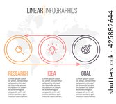 business infographics. timeline ... | Shutterstock .eps vector #425882644