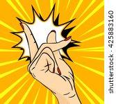 vector hand drawn pop art... | Shutterstock .eps vector #425883160