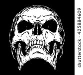 Black And White Engrave Evil...