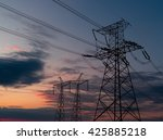 high voltage post or high... | Shutterstock . vector #425885218