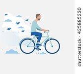 men riding a bike | Shutterstock .eps vector #425885230