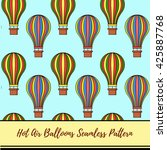 hot air balloons vector pattern | Shutterstock .eps vector #425887768