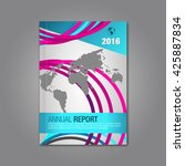 annual report. business... | Shutterstock .eps vector #425887834