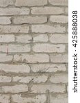 weathered aged white brick wall ...   Shutterstock . vector #425888038