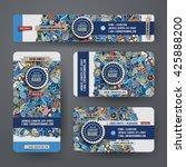 corporate identity vector... | Shutterstock .eps vector #425888200