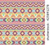 ethnic boho seamless pattern...   Shutterstock .eps vector #425891278