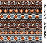 ethnic boho ornament on dark... | Shutterstock .eps vector #425891290