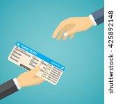 businessman receiving boarding... | Shutterstock .eps vector #425892148