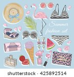 summer fashion vector... | Shutterstock .eps vector #425892514