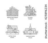vector design logo with city... | Shutterstock .eps vector #425896234