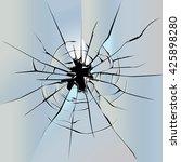 transparent broken glass...   Shutterstock .eps vector #425898280
