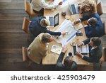 business people meeting... | Shutterstock . vector #425903479
