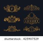 Vintage Gold Logos Crest Set....