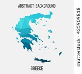 greece map in geometric... | Shutterstock .eps vector #425909818
