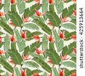 seamless pattern. tropical palm ... | Shutterstock .eps vector #425913664