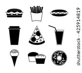 fast food and drink icon on... | Shutterstock .eps vector #425914819