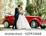 sensual kiss of the two in... | Shutterstock . vector #425915668