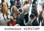 business people meeting eating... | Shutterstock . vector #425917189