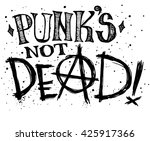 punks not dead label design for ... | Shutterstock .eps vector #425917366