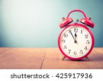 old alarm clock with five... | Shutterstock . vector #425917936