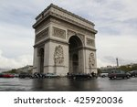 the arc de triomphe  an... | Shutterstock . vector #425920036