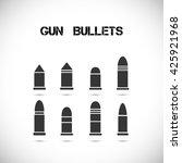 set of different caliber... | Shutterstock .eps vector #425921968