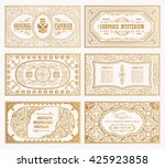 vintage set retro cards.... | Shutterstock .eps vector #425923858