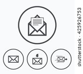 mail envelope icons. message... | Shutterstock . vector #425926753
