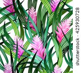 amazing vector tropical design. ... | Shutterstock .eps vector #425930728