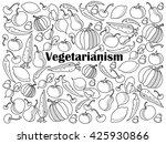 vegetarianism design colorless... | Shutterstock .eps vector #425930866