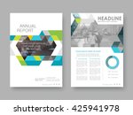 annual report  flyer ... | Shutterstock .eps vector #425941978