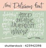 alphabet letters  lowercase ... | Shutterstock .eps vector #425942398