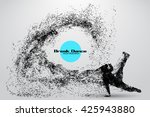 silhouette of a break dancer... | Shutterstock .eps vector #425943880