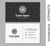 visiting card and business card ... | Shutterstock .eps vector #425946076
